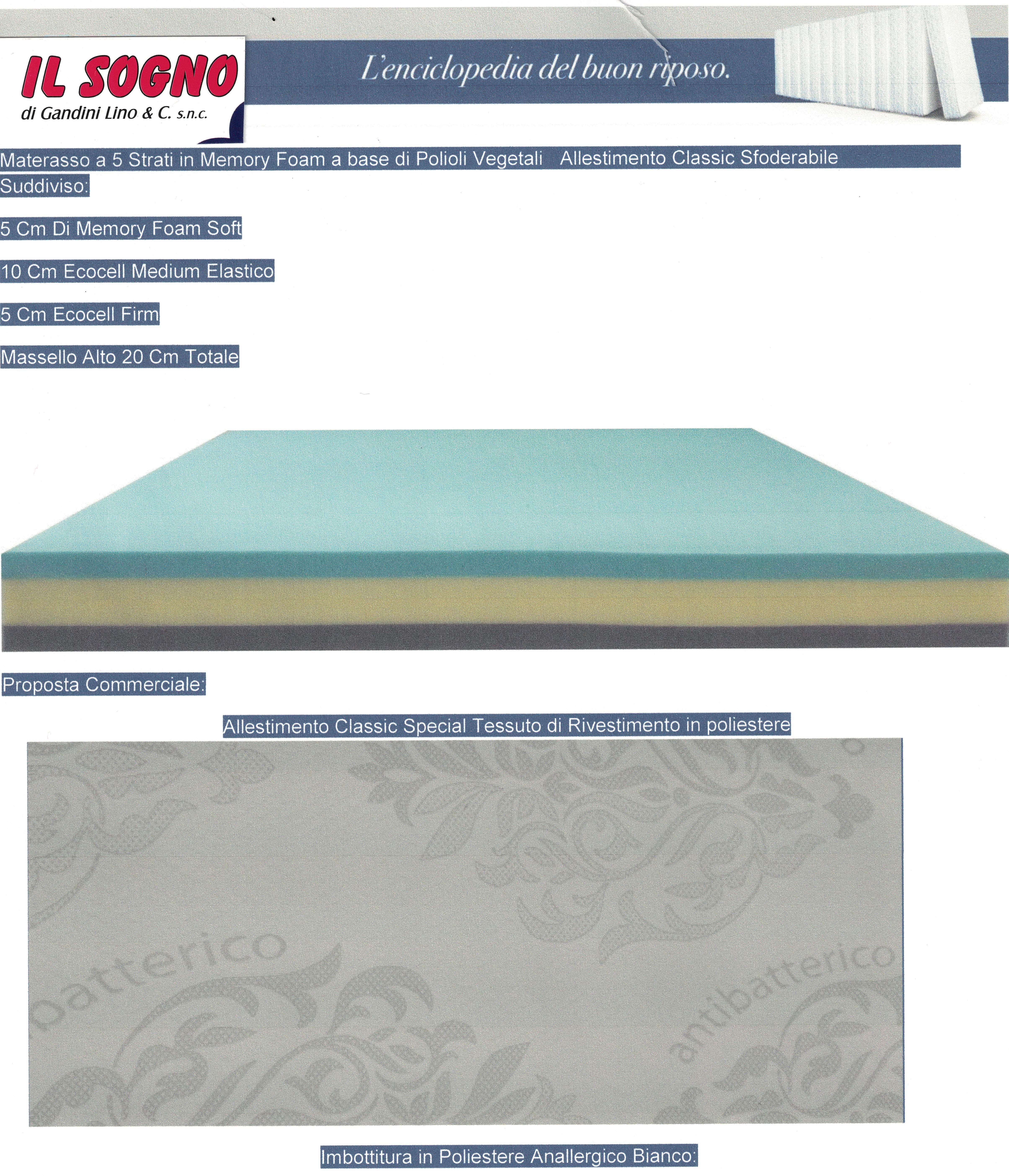 materasso da 20 cm Mobilier D/éco Lotto rete 90 x 190 cm singolo + 4 piedi